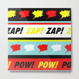 Comic Pattern  - Pop Art Design Metal Print