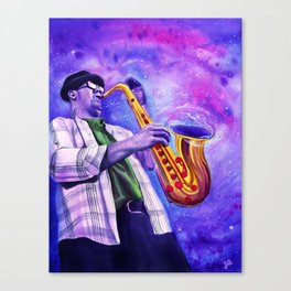 The sound of a blackhole, resonates in B flat. Canvas Print