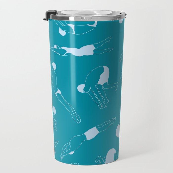 On Your Marks - Teal Travel Mug