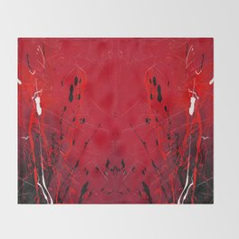 Rising - abstract painting by Rasko Throw Blanket