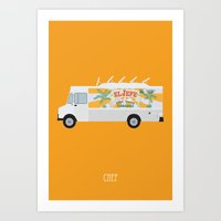 chef Art Prints featuring chef by Live It Up
