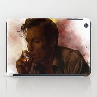 true detective iPad Cases featuring True Detective : Rust Cohle  by p1xer