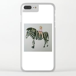 Comfortable with nature Clear iPhone Case