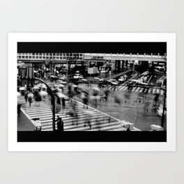 Shibuya Crossing Motion Art Print