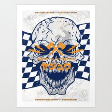 Death Valley Racers (Navy Orange) Art Print