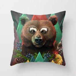 Bear Of Fall Throw Pillow