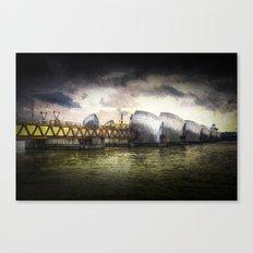 The Thames Barrier London Art Canvas Print
