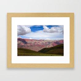 Serranias del Hornocal, colored mountains, Argentina Framed Art Print