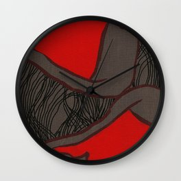 Coronary Contemporary 2 Wall Clock