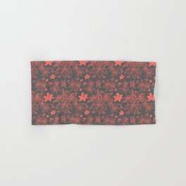 Flowers In Coral Red Hand & Bath Towel