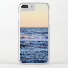 Blue Sea Clear iPhone Case