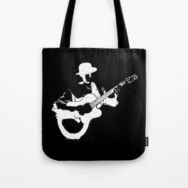 Musician playing Tote Bag