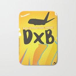 DXB Dubai airport code Bath Mat