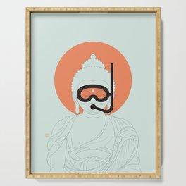 Buddha : Take A Deep Breath! Serving Tray
