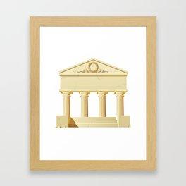 Antique building  Framed Art Print