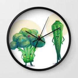 Miss Broccolli and Mr. Okra Wall Clock