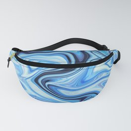 Marbled Frenzy Electric Blue Fanny Pack