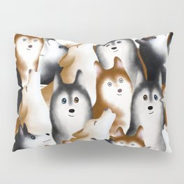 Siberian Huskies Pillow Sham