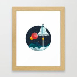 Exploring space Framed Art Print