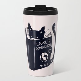 World Domination For Cats Travel Mug