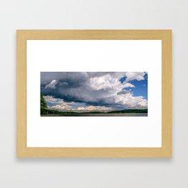 HD Clouds Rip Van Winkle Bridge Framed Art Print