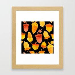 Acorns - Black Framed Art Print