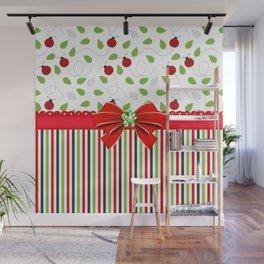 Flourishing Ladybugs Colorful Strips Wall Mural