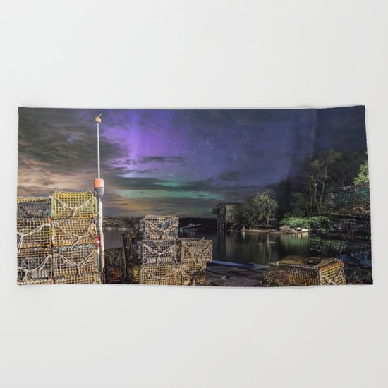 Lobster Trap Aurora Beach Towel