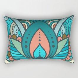 Hamsa Hand of Fatima, good luck charm, protection symbol anti evil eye Rectangular Pillow