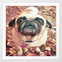 Pug Love ~ In Delilah's Eyes Art Print
