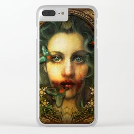 """Meat is Murder (Memento Mori)"" Clear iPhone Case"