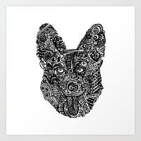 Complex Dog Art Print