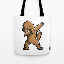 Funny Goldendoodle Dabbing Tote Bag