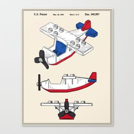 Toy Airplane Patent Canvas Print
