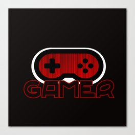 Red Gamer Canvas Print