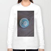 seashell Long Sleeve T-shirts featuring Blue Seashell by Kelly Stiles