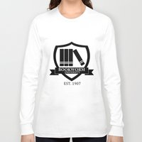 bookworm Long Sleeve T-shirts featuring Bookworm University by bookwormboutique