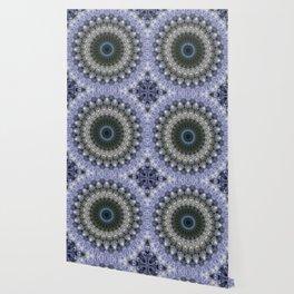 Amethyst mandala with blue star Wallpaper