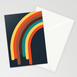 Retro Rainbow 70s colors Stationery Cards