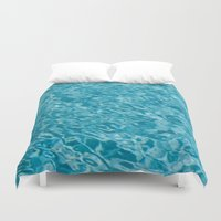 swim Duvet Covers featuring // Swim // by Andreas Poupoutsis Photography