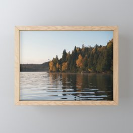 Clam Fall Morning Framed Mini Art Print