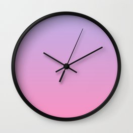 Pink and Purple Sunset Inspired Color Gradient Wall Clock