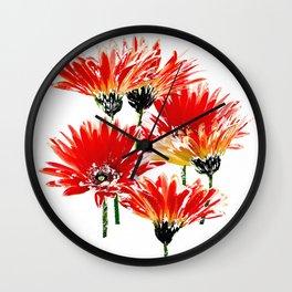 Pink Daisies Wall Clock