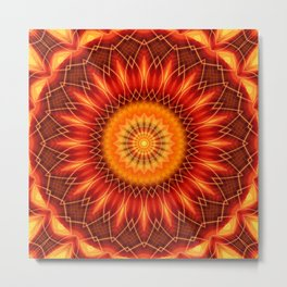 Mandala geometry Metal Print