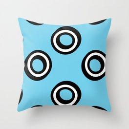 Round Circles Throw Pillow