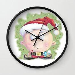 christmas elf Wall Clock