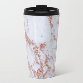 Intense rose gold marble Travel Mug