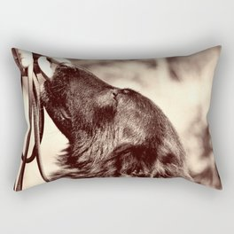 The love of a dog to man Rectangular Pillow