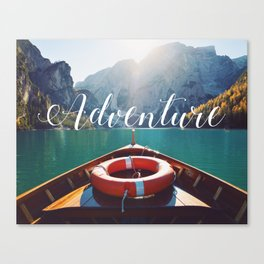 Live the Adventure - Typography Canvas Print