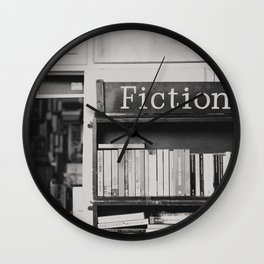 getting lost in a book store Wall Clock